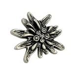 Gałka z kolekcji Edelweiss firmy Siro. Elegancka, z motywem stokrotki alpejskiej Wykonana z metalu.  Niezwykle efektowna gałka z kolekcji Edelweiss...