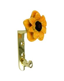 Wieszak z kolekcji Flower firmy Siro. Elegancki, stylowy uchwyt żółtego kwiatka. Zaprojektowany przez Simone Gutsche-Sikora Wykonany z metalu, pokrycie...