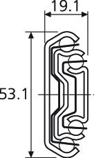 Prowadnica 5321 Nierdzewna 50cm 160kg Wysuw ponad 100% Accuride - Accuride
