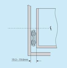 Prowadnica Kulkowa 5321 Wysuw Ponad 100%  dł35cm 130kg Accuride - Accuride
