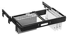 Zestaw DAFR20-0501 z prowadnicą DB5517-1552. Wykonany z metalu - kolor czarny Rama DAFR200-501 służy do podwieszania teczek kartotekowych w rozmiarze DIN...