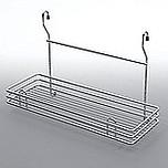 Koszyk zawieszkowy pojedynczy metal nikiel-satyna  Systemy relingowe świetnie wypełniają pustą przestrzeń między szafkami dolnymi a górnymi półkami...