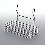 Koszyk zawieszkowy pojedynczy mały metal chrom-satyna  Systemy relingowe świetnie wypełniają pustą przestrzeń między szafkami dolnymi a górnymi...