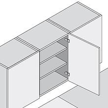 Zawias CLIP 100° 71M2550 Drzwi Standard Nakładane Sprężyna Blum - Blum