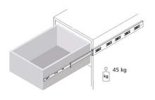 Prowadnice do szuflad Prowadnica DZ4501 Bee Slide dł. 450 mm 45kg Wysuw 100% - Bee Slide