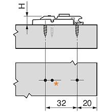 Aventos HK-S Zestaw Mocowań Frontu Drewnianego - Blum