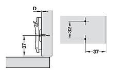 Prowadnik Klipowy (Krzyżakowy) z Eurośrubami BAVGM09F H=0mm - Salice