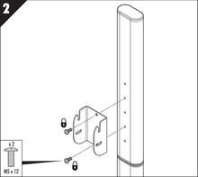 23090221 VESA bracket Wspornik VESA z regulacją kąta nachylenia - Accuride