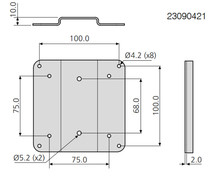 Multimedia 23090421 VESA bracket o Wspornik VESA bez regulacji nachylenia - Accuride