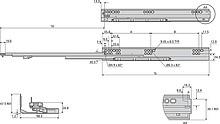 Prowadnica kulkowa DZ3132EC 45.72cm 45kg Z Hamulcem 100% Accurid - Accuride