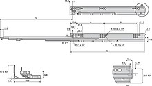 Prowadnica kulkowa DZ3132EC 50.80cm 45kg Z Hamulcem 100% Accurid - Accuride