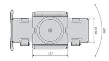 Uchwyt Do Podwieszania Komputera Pod Biurkiem CPUH-005 Srebrny - Accuride