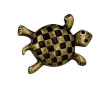 Uchwyt w kształcie żółwia, renomowanej firmy Siro Wykonany z metalu w pokryciu stary mosiądz  Uchwyt w kształcie żółwia w kolorze starego mosiądzu...