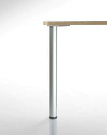 Noga okrągła do blatów stołowych o najwyższej jakości wykonania Żeliwne mocowanie zapewnia całkowitą stabilność stołu-po dłuższym okresie...