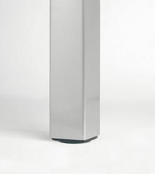 Noga 646 QUADRA Kwadratowa 6/6cm wys.70cm Aluminium Polerowane - Camar