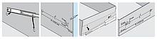 Prowadnice 7400 Montaż Bagnetowy DO MEBLI METALOWYCH +100% 50cm - Accuride