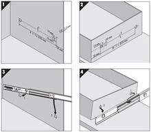 Prowadnice 7400 Montaż Bagnetowy DO MEBLI METALOWYCH +100% 35cm - Accuride