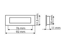 Uchwyt ZnAl MD13 Rozstaw 76 mm Chrom Satynowy - Gamet