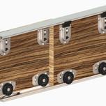 System ARES 2 do 2 sztuk drzwiprzesuwnychw szafach i zabudowach wnęk.  Ciężar drzwi do 70kg. Grubość drzwi od 16mm. Długość prowadnicy...