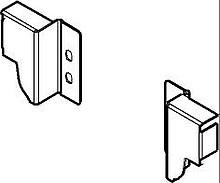 Tandembox ANTARO -Uchwyty ścianki tylnej Z30N h=68mm B.Czarne - Blum