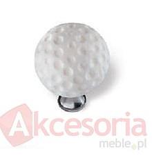 Uchwyt do mebli dziecięcych lub łazienkowych renomowanej firmy Siro. Wykonany z tworzywa, przedstawiający piłeczkę golfową.