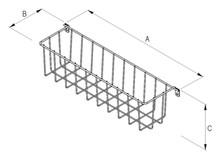 Wyposażenie szaf Koszyk Boczny Mikrus SREBRNY Duży Szer.36cm/Gł.9cm/Wys.10cm - Rejs