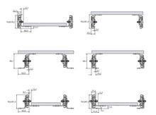 Prowadnice do dużych obciążeń Prowadnica Kulkowa 9308 Z Blokadą 100% Wysuw dł.609,6mm 227 kg - Accuride