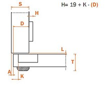 Zawias CFA7A99 Do Ciężkich Drzwi Nakładanych  Seria F - Salice