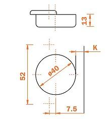 Zawiasy Zawias CFA7P99 Do Ciężkich Drzwi Wpuszczanych  Seria F - Salice