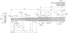Prowadnica kulkowa DH3832 Antykorozyjna 60cm 45kg 100% Accuride - Accuride