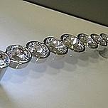 Włoski uchwyt firmy GIUSTI Linea Glamour -550 z kryształkami Swarovskiego. W kolorze chrom. Rozstaw 96mm. Długość całkowita 114mm.