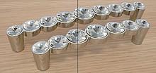 Uchwyt Linea Glamour chrom 633 SWAROVSKI rozstaw 96mm - Giusti
