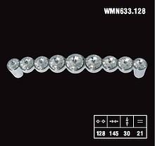 Uchwyty Uchwyt Linea Glamour chrom 633 SWAROVSKI rozstaw 128mm - Giusti