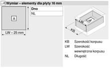 Prowadnice do szuflad Prowadnica rolkowa 230M 55cm 25kg 75%wysuw Kremowo-Biała Blum - Blum