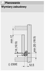 Prowadnica rolkowa 230M 60cm 25kg 75%wysuw Kremowo-Biała Blum - Blum