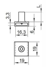 Zamek centralny Przedni L-800 Niklowany Rozetka 19mm - Siso