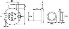 Zamek Patentowy Okrągły X-853 Niklowany - Siso
