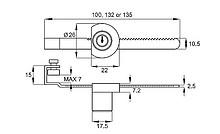 Zamek Do Drzwi Szklanych Przesuwnych X-750 Chromowany L-100 - Siso