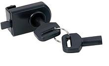 Zamek do drzwi szklanych AUDIO 5-point Zastosowanie: szklane drzwi na zawiasach, w szafkach audio/video, nie wymaga wiercenia Wykonanie: Czarny plastik Skład...