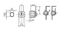 Zamek Meblowy X-44 Chromowany Do Drzwi Metalowych - Siso