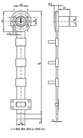 Zamek Centralny Boczny X-851 Niklowany - Siso