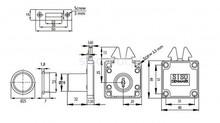 Zamek Do Drzwi Żaluzjowych X-855 32mm Niklowany - Siso
