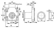 Zamek Kwadratowy X-850 Niklowany - Siso