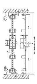 Zamek Baskwilowy X-155 Chromowany Niklowany - Siso