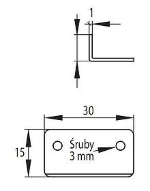 Zamki Blaszka Kątowa Do Zamków Kwadratowych X-850 SISO - Siso