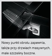 Zawiasy Zawias CLIP Top 110° 71B3550 Z HAMULCEM Drzwi Standard Nakładane - Blum