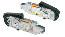 Siłowniki 20S2A00.05 z szarymi zaślepkami 20S8000 i podnośnikami 20S3500.05 to elementy systemu AVENTOS HS. Zestaw siłownika do AVENTOS...
