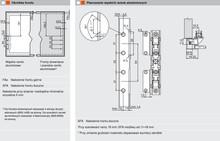 Podnośniki Aventos HS Siłowniki 20S2B00+Podnośniki 20S3500 SZARE - Blum