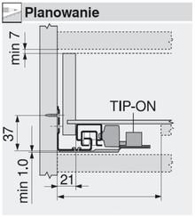 TIP-ON T55.1150S Do Prowadnic TANDEM 550H (Do Synchronizacji) - Blum