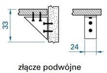 Kątowniki Wsporniki półek Złącza Meblowe Podwójne Jasny Buk - Valcomp